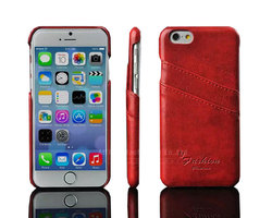 Oil wax PU leather mobile phone cover for iPhone 6 card slots case