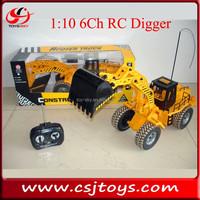 Sale 1:10 6ch Remote Control digger engineer cars trucks RC model trucks
