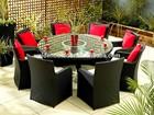 Restaurante móveis rodada de jantar e cadeira