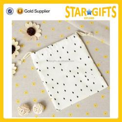 Custom Reusable Small Cotton Drawstring Gift Bag For Christmas