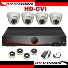 full HD home security system,4ch DVR kit,H264,dahua HDCVI 720P IR vandalproof Dome cameras with 720p realtime preview