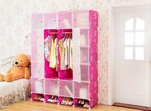 High Capacity Assemble DIY Plastic Clothes Closet Storage