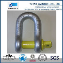 SGS certificated g210 forged d type shackle