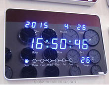 2015 new design LED digital wall clock with aluminum frame