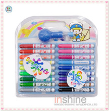 18 pcs water color pen with spray , spray pen with paper mould for children