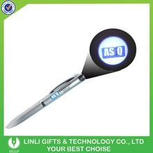 Brand Logo Led Light Projector Pen, Flash Projector Pen, Metal Projector Pen