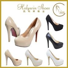 Pure Color High Quality Platform High Heel Women Dress Shoes