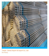hot dipped galvanized round steel pipe used in construction or transmission oil,water