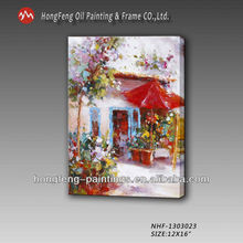 Artist Painting Modern Home Decoration Abstract Garden Landscape Oil Painting