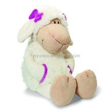 High quality custom plush lamb with bow on head