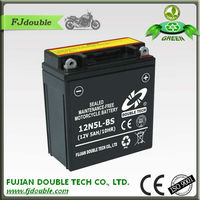 rechargeable lead acid battery 12V 5ah, starting 12N5L-BS acid battery, motorcycle parts