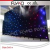 full color indoor star effect led star curtain