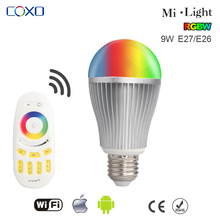 Energy saving Wifi RGBW Bulb Magic 9w E27 LED Light APP Remote Control By iPhone/iPad/Android
