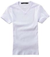 guangzhou factory cheap high quality polycotton white men tshirts