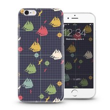 So cute marine and wood custom design case for iPhone 4 5 6 plus with high quality soft slim tpu material