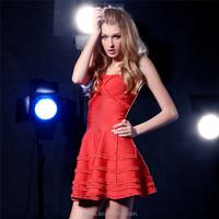 elegant red strapless western quinceanera dresses