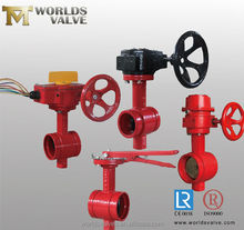 petroleum groove end butterfly valves series