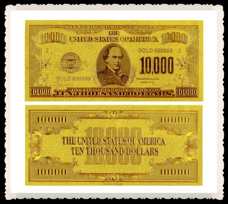 american dollar bills 10000 dollars gold plated banknote nice