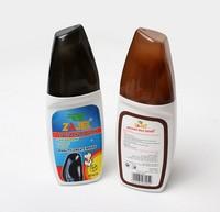 Brightening with Sponge Making shoe polish 75ML Black Brown Liquid Shoe Polish