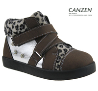 PU+HORSEHAIR casual infant shoes girl