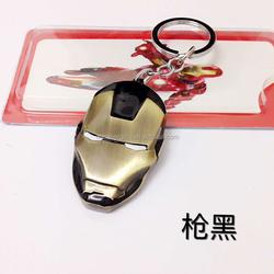 Super Hero The Avengers Iron Man Mask Metal Keychain Pendant Key Chains