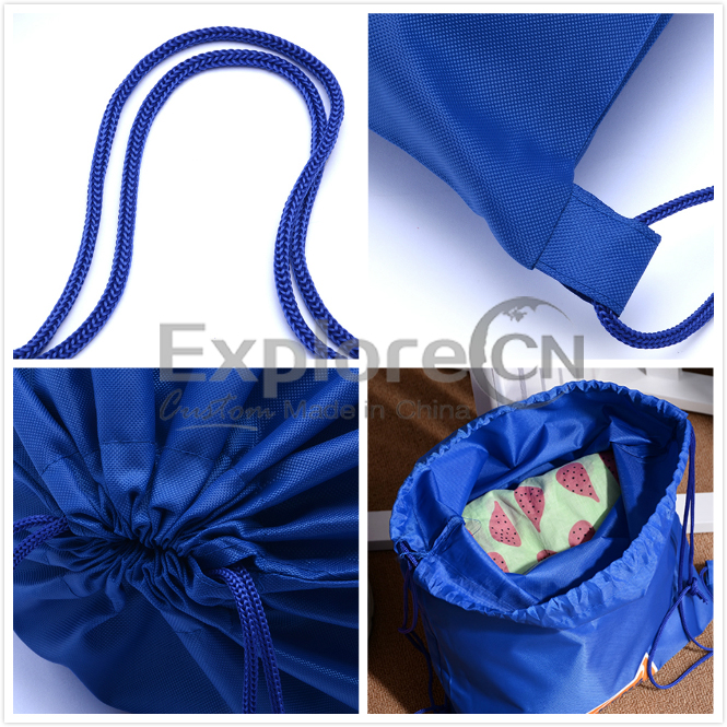 10+ Years Custom printed promotional waterproof nylon drawstring bag for storage