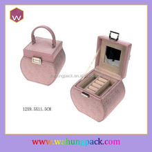 Customize Trendy Jewellery Boxes Packaging & Fancy Pink Packaging Case With Handles For Shopping For Girls