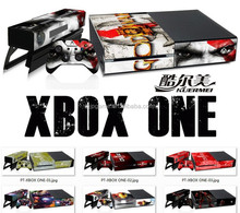 hot sell for xbox one skin, for xbox one vinyl skins console controller vinyl skin sticker for xbox one sticker new design