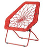 Bunjo Hex Portable Folding Bungee Chair For Dorm, Family Room or Back Yard