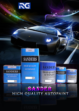 Sanders Clear Coat Spray Application Automotive Paint