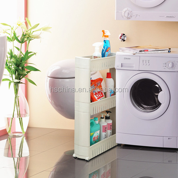 Folding Bath Kitchen Laundry Room Storage Organizer Removable ...