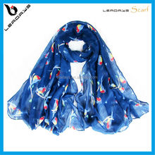 unique and cute bird printing hijab hot