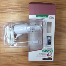 High quality 2 Led light Dynamic power charger for Apple series 8 pins 5V 2a car charger adapter