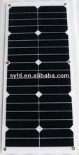 Portable 25W Flexible Solar Panel made in China