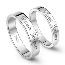 925 sterling silver Couples love ring ,platinum love rings for couples !