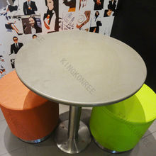 Solid surface stone outdoor furniture round stone table / oval marble stone top dining table