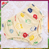 Girl's Baby underwear 100% cotton printing/ printed girl's briefs for baby