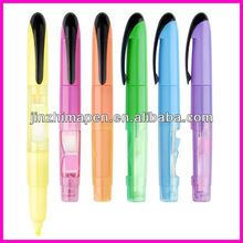 plastic highlighter pen with sticky note
