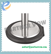 Crowd control barrier weighted pole base