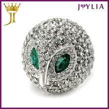 Professional Jewelry Factory Supply Crystal fashion jewelry big rings