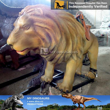 N-C-W-868-animal figurine life size fiberglass sculpture animatronic lion