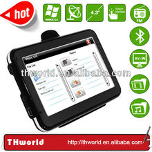 2014 hot sale 4.3 inch sat nav satellite navigator with 4GB memory installed latest map