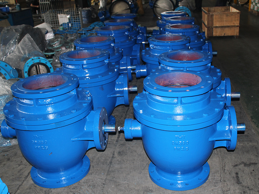 Pneumatic actuated flanged ball valve