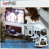 eye-catching stage outdoor p8truck/trailer/car moving advertising led display with high definition