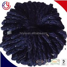 HOYIA cheap ruffle yarn, ruffle scarf yarn in China, gold metallic lurex yarn