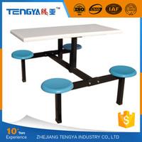 Tengya Restaurant Fiberglass School Canteen Table and Chair