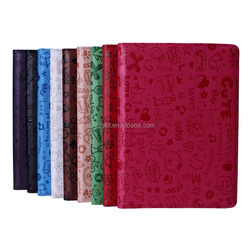 360 Degree Rolating Case For Ipad 6,PU Leather Flip Cover Case For Ipad 6