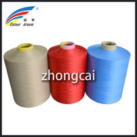 100% Poly DTY Texturised Yarn Dope Dyed Colors
