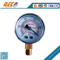 Bottom mounting high accuracy negative pressure gauge hvac vacuum gauge