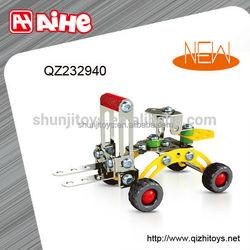 HOT handmade metal toy,mini metal car toy,DIY building block truck